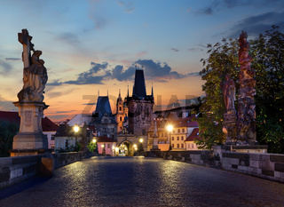 lights on Charles Bridge