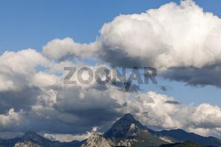 Wolken über Gipfel
