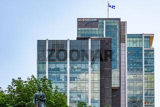 Quebecor headquarter on Victoria Square, Montreal, Canada