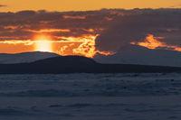 Sunset, Lake Akkajaure, Lapland, Sweden