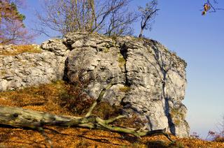 Hangender Stein, Schwäbische Alb bei Burladingen, Deutschland