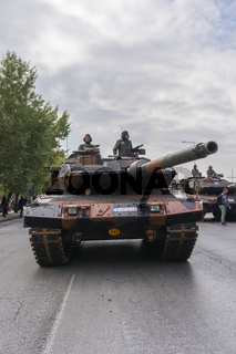 Thessaloniki, Greece October 28 Oxi Day Greek Army parade.