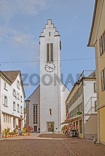 Evangelische Stadtkirche Frauenfeld, Kanton Thurgau, Schweiz