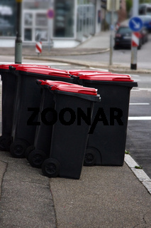 Waste containers and container sites