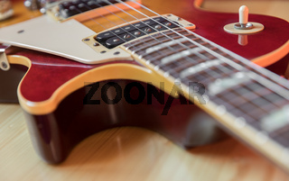 Detail of a electric guitar