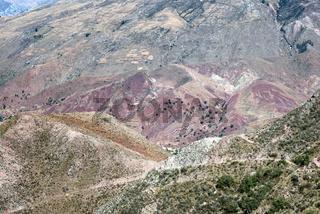 Colorful Mountainous Landscape Near Maragua, Bolivia