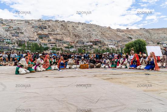 Musicians on festival in Ladakh