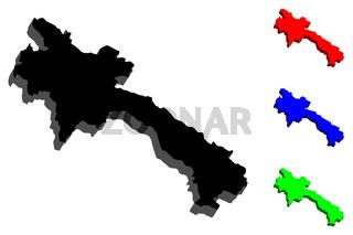 3D map of Laos