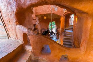 interior view of the terracotta house Villa de Leyva Colombia