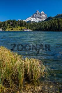 Beautiful Lago di Misurina in the Dolomites in Northern Italy