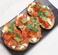 Bruschetta on a plate