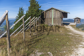 Weather station on Tegelberg by a footpath