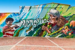 Bogota city mural title generations