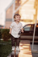 Baby child in white shirts
