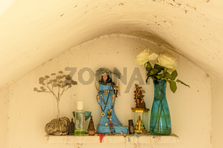 Small altar to Iemanja queen of the sea