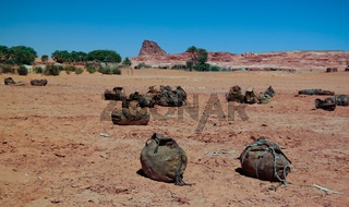 salt mining in the Saline Demi dry lake, Fada, Ennedi, Chad