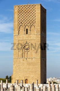 The Hassan Tower in Rabat, Morocco