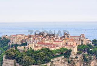 Monaco-Ville above the Ligurian Sea