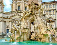 Fountain at Piazza Navona in Rome