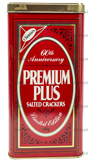 Vintage salted cracker box