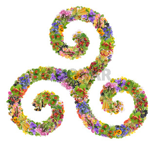 The Triskelion symbol consists of three connected spirals  Isolated