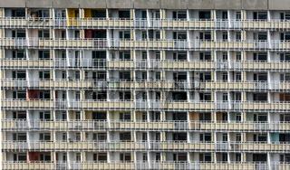Dull neglected apartment block