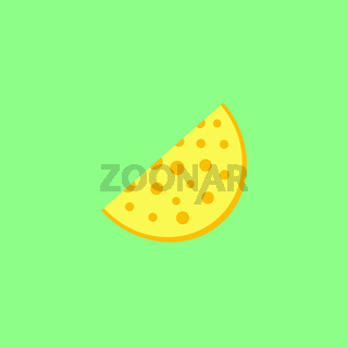 Cheese on the neon green background