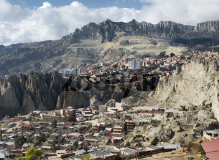 View toward El Alto in La Paz, Bolivia