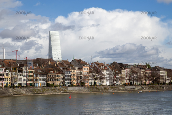 Rhine Riverfront in Basel, Switzerland