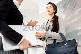 Discussion of Joint Project in Modern Office