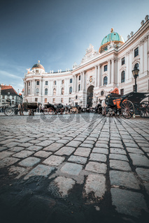 Vienna austria Hofburg famous square in the middle of the castle