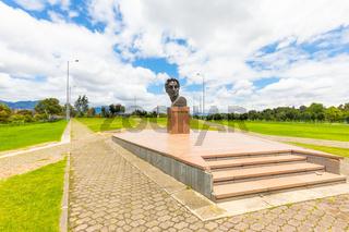 Bogota Simon Bolivar monument in pubblic park