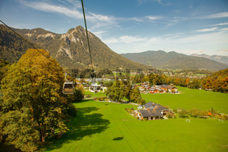 Cable car to the Bavarian Alps near lake Königssee, Germany, Schönau Königssee (Jennerbahn)