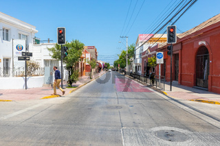 Chile La Serena Cristobal Colon avenue in the morning