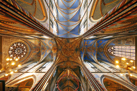 Vaults in the St. Mary's Basilica, place of pilgrimage, Kevelaer, Lower Rhine, Germany, Europe