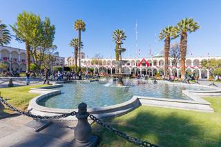 Arequipa parade ground square  fountain Peru