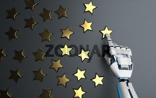 Humanoid Robot Golden Stars Rating