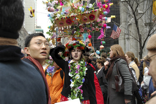 The Easter Parade in front of St. Patrick's Cathedral on 5th avenue in New York City. March 27, 2005 - New York, USA