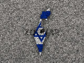 Karte und Fahne von Israel auf Mohn - Map and flag of Israel on poppy seeds