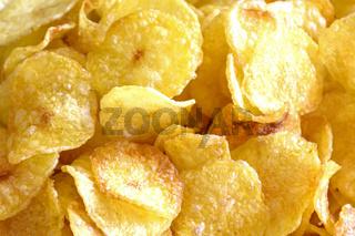 Various potatoes chips closeup