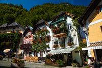 HALLSTATT, AUSTRIA - SEPTEMBER 11, 2012: The beautiful village of Hallstatt in Austria