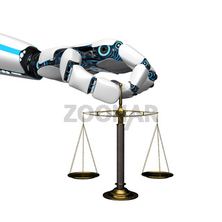 Humanoid Robot Hand Beam Balance
