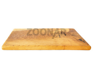 Holzbrettchen auf weißem Hintergrund