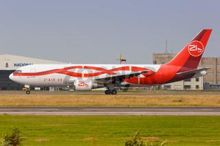 21 Air Boeing 767-200BDSF airplane Bogota airport