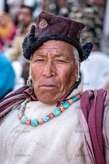 Ethnic Indian on festival in Ladakh