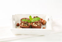 Mini chocolate hazelnut cakes