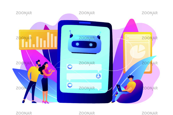 Chatbot customer service concept vector illustration.