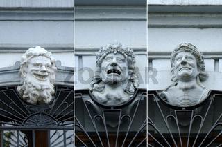 Basel, Blaues Haus, Masken