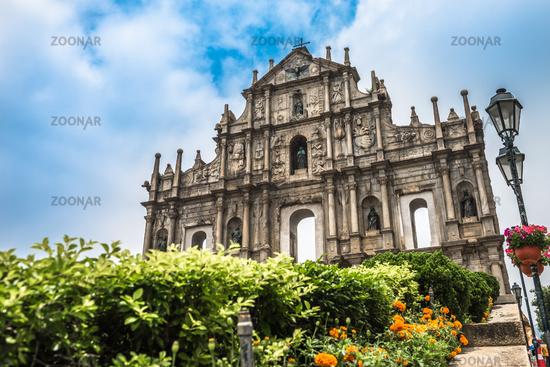 The Ruins of St. Paul's in Macau, China.