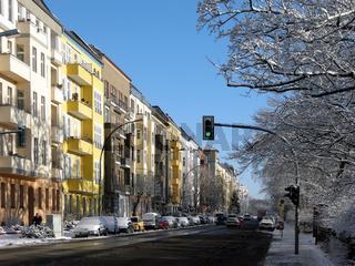 Strasse am Berliner Friedrichshain